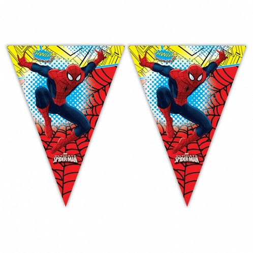 Ultimate Spiderman Triangle Party Flag Banner
