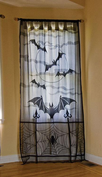 Bat Decor Window Panel