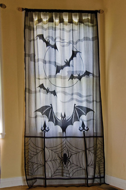 Bat Decor Window Panel
