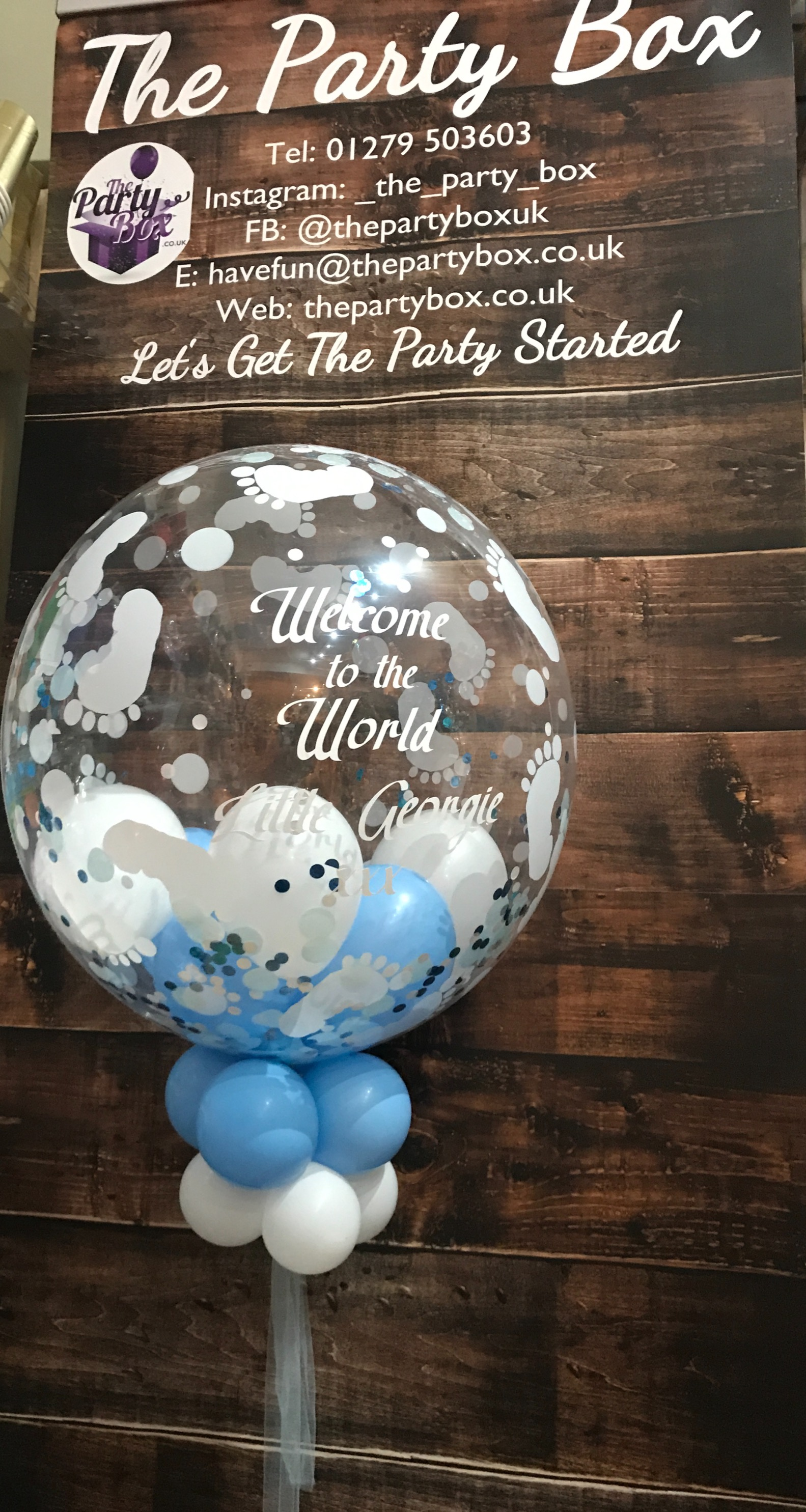 Welcome to the world bubble balloon