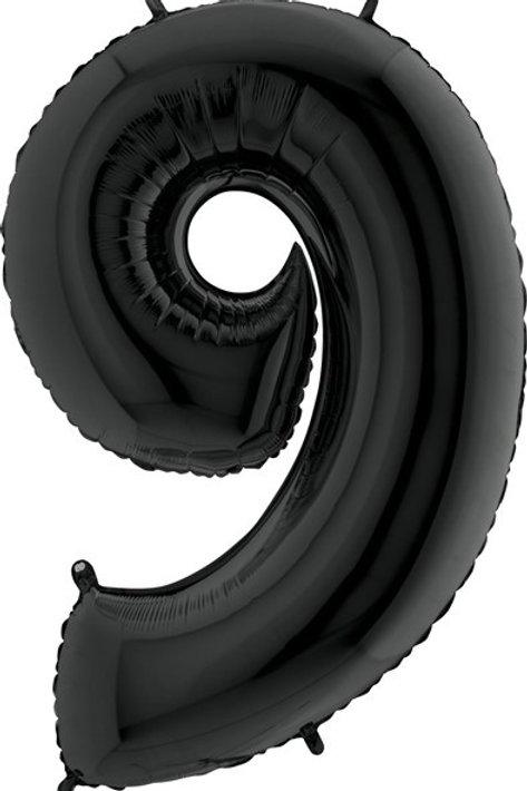 Big Number Balloon in Black