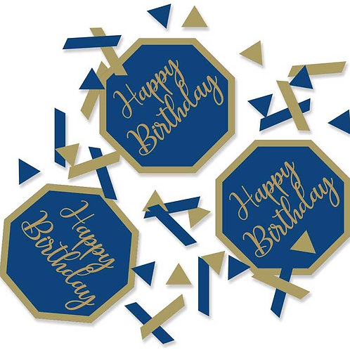 Navy & Gold Birthday Confetti
