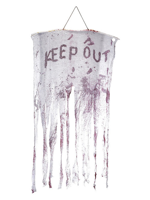 Keep Out Bloody Hanging Decoration