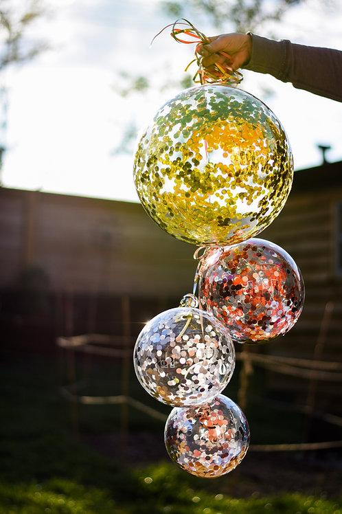 Aqua Confetti Balloons