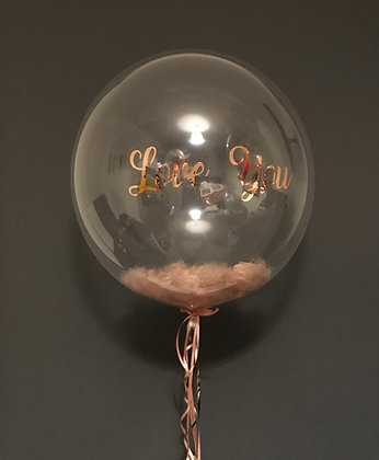 Personalised Feather Bubble Balloon