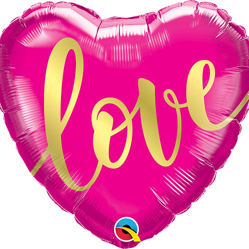 Foil Love Balloon
