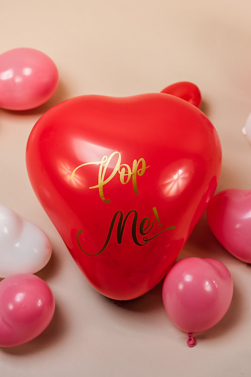 Pop Me! Valentines Confetti Filled Heart