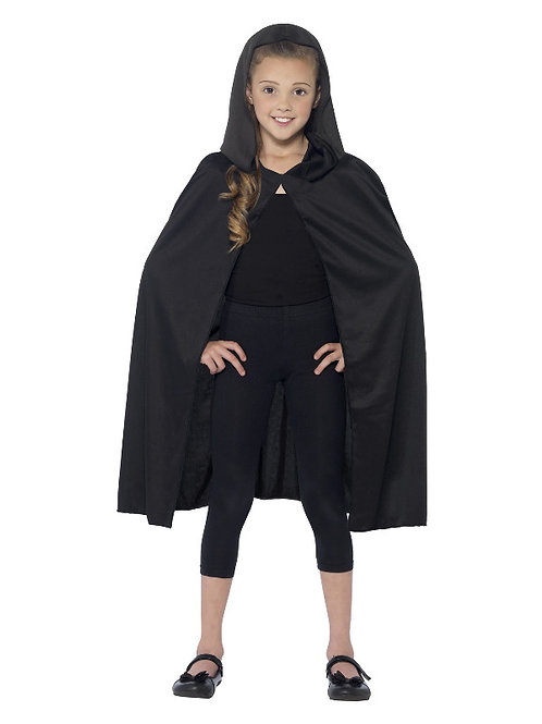 Child's Hooded Black Cape