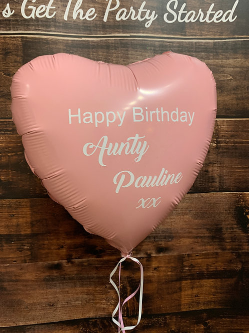 Personalised Heart or Star Foil