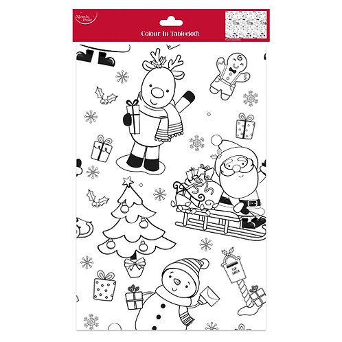 Christmas Paper Colouring Tablecover