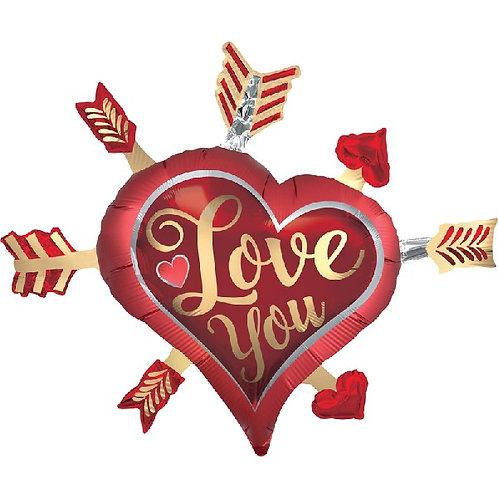Satin Love You Arrows Supershape