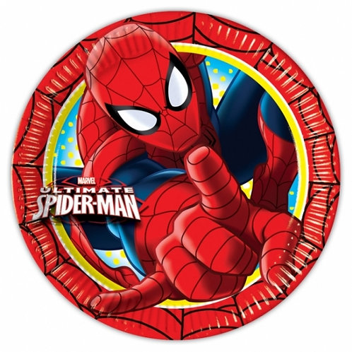Ultimate Spiderman Party Paper Plate 23cm