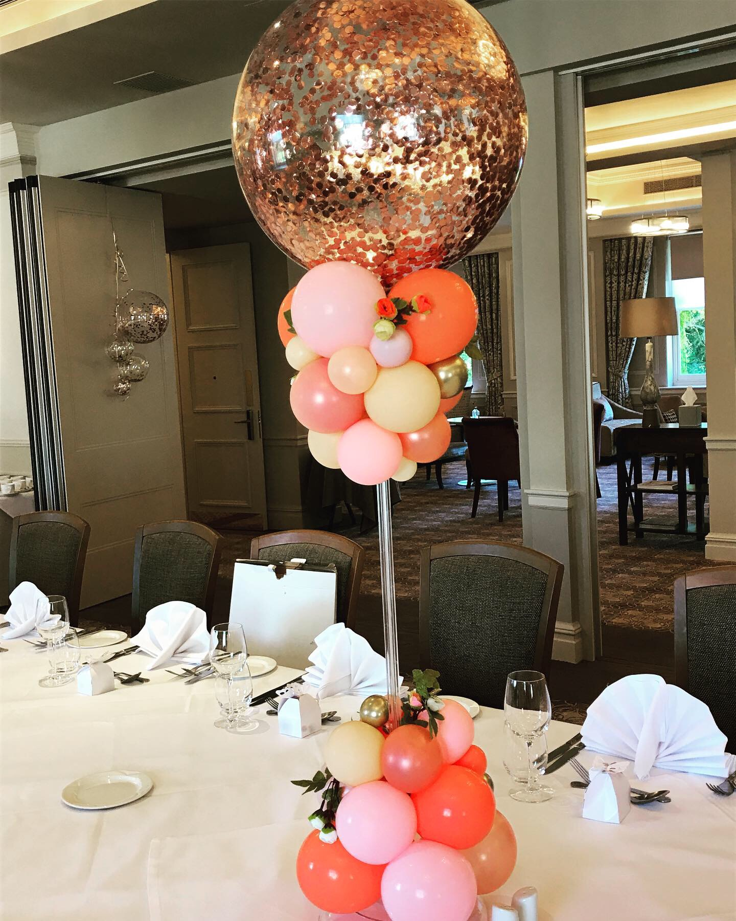 Rose Gold Organic Table Centerpieces