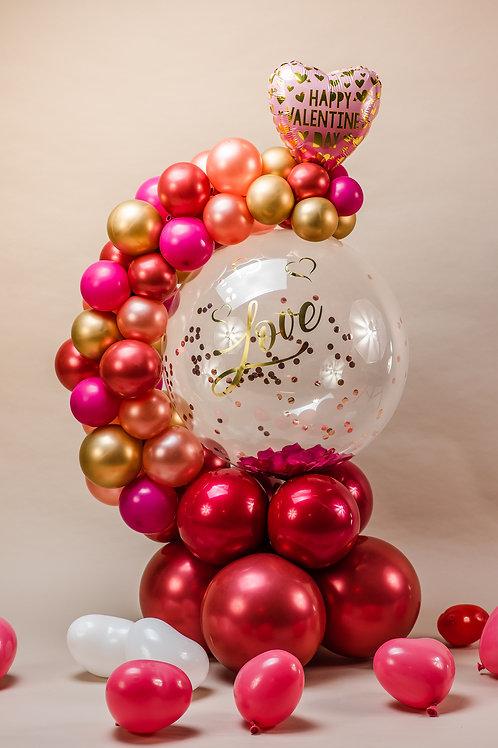Confetti & Petal Personalised Hug Bubble  + Little Hearts!