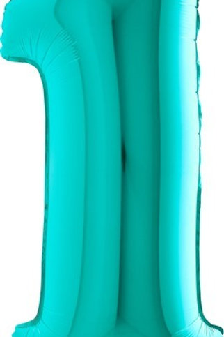 Big Number Balloon in Teal