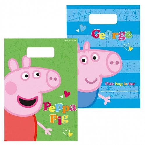 Peppa Pig Party Loot Bags Pk8