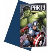 Avengers Multi Hero Invitations Pk6