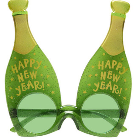 Happy New Year Champagne Glasses