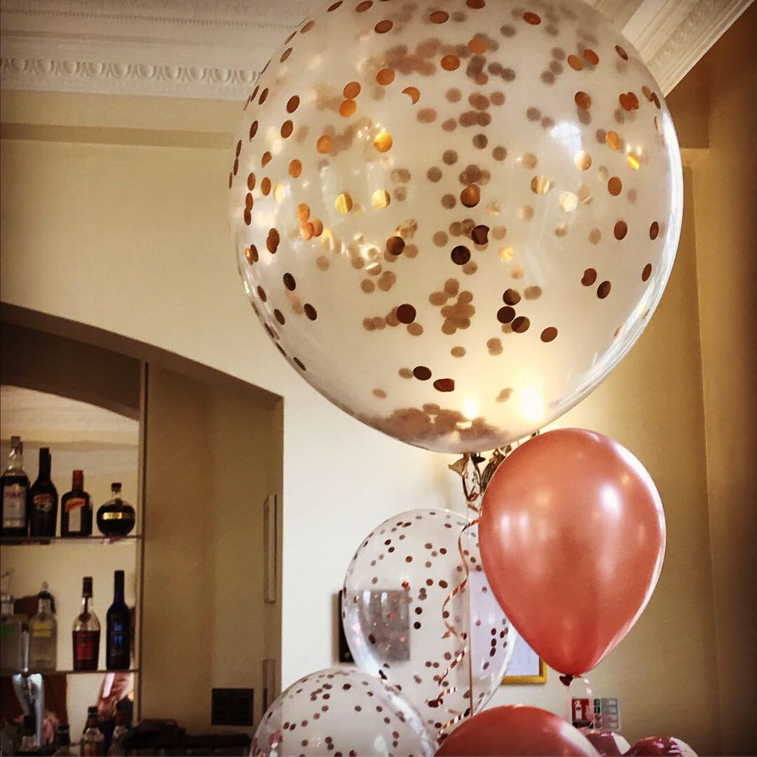 Confetti Balloons in Rose Gold