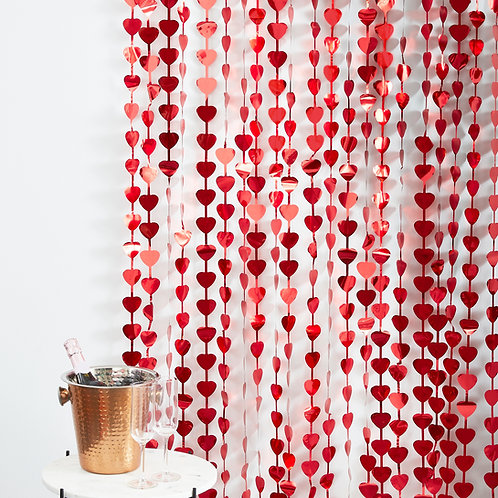 Heart Shaped Valentines DayParty Backdrop