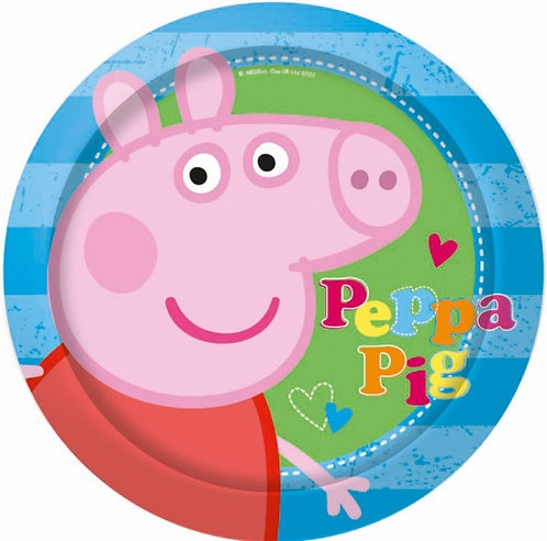 Peppa Pig Party Paper Plates Pk8