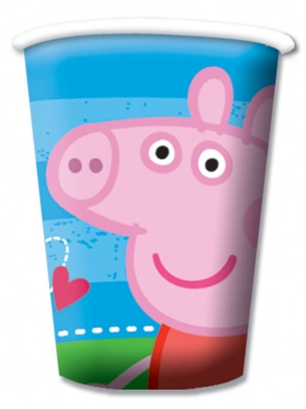 Peppa Pig Party Paper Cups Pk8