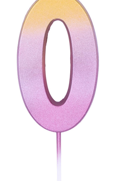 Numeral Rose Gold Ombre Candles