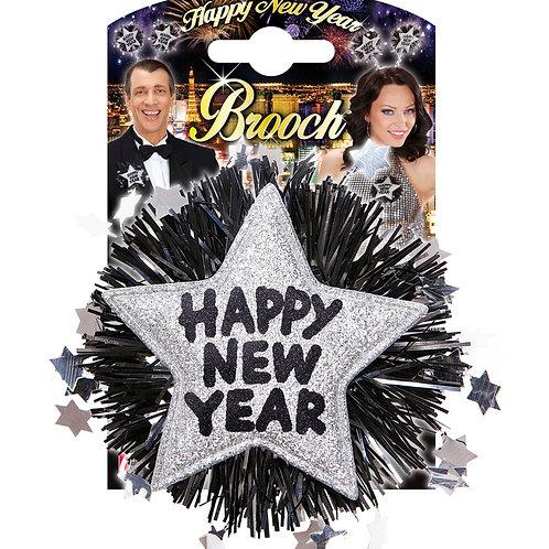 Happy New Year Brooch