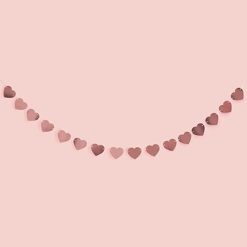 Rose Gold Heart Garland
