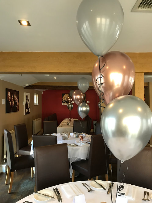 Chrome Rose Gold & Silver Balloon Display
