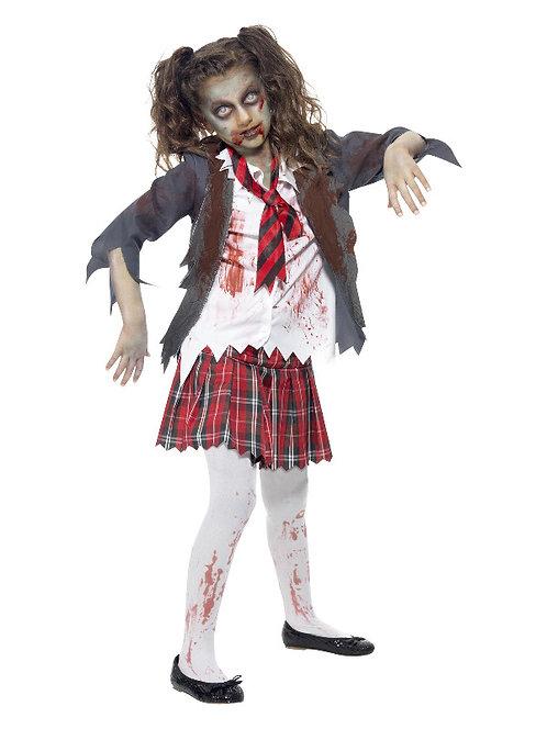 Zombie School Girl Child Costume