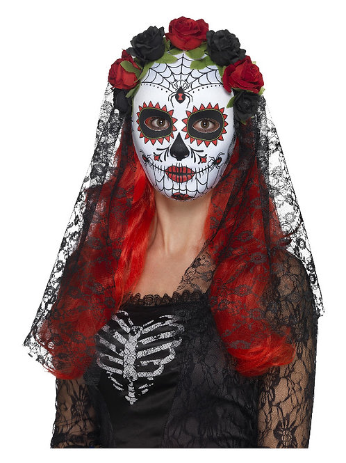 Day of the Dead Senorita Full Face Mask