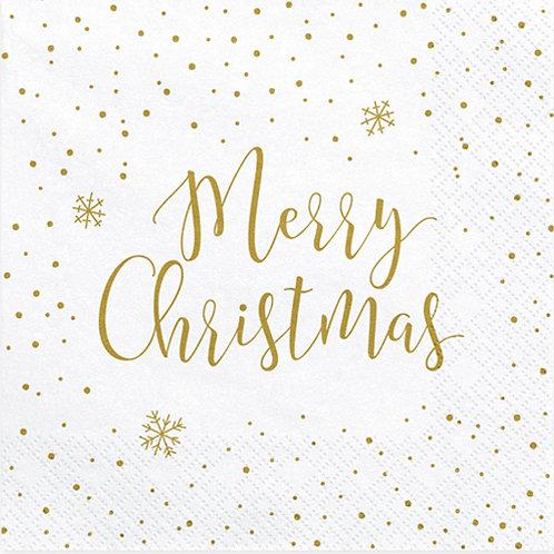 Merry Christmas Stripe Paper Napkins