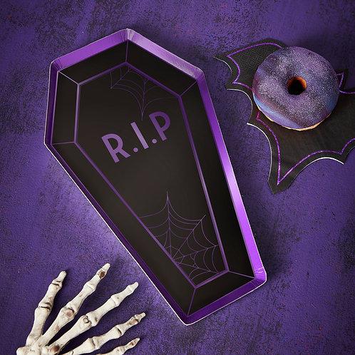 Coffin Halloween Paper Plates