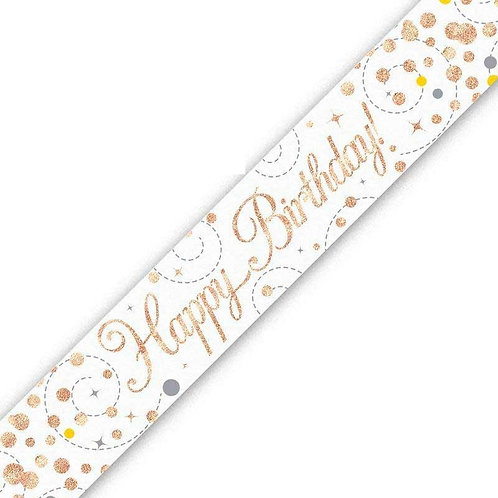 Rose Gold Birthday Banners