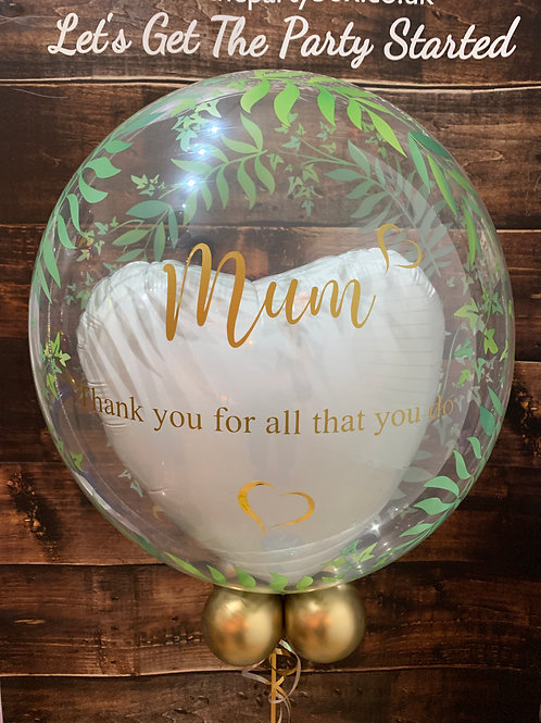 Mothers Day Elegant Bubble Balloon