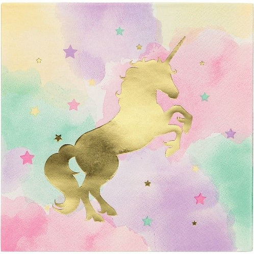 Unicorn Sparkle Paper Napkins - Pk 16