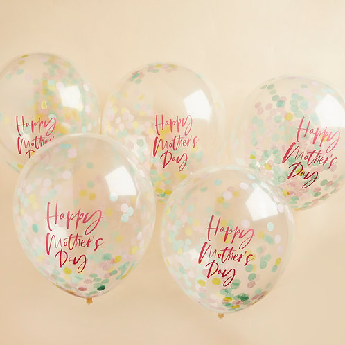 Happy Mothers Day Confetti Latex