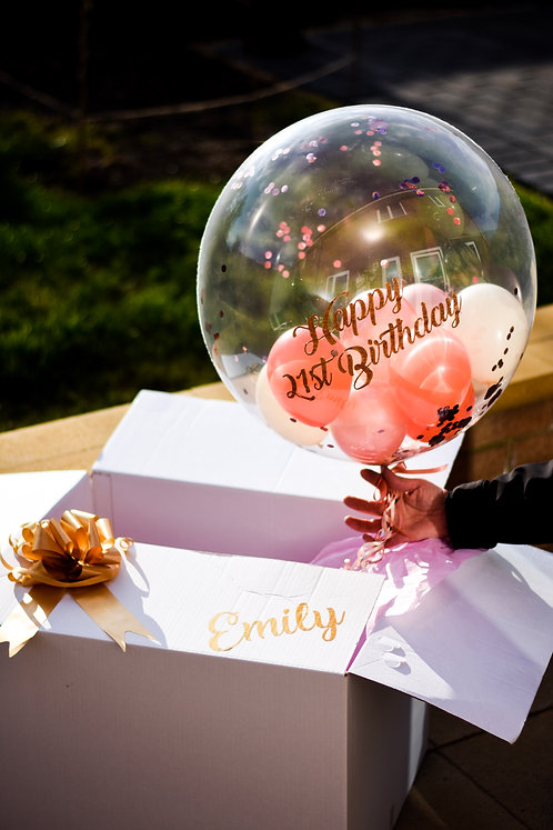 Confetti Bubble Balloon in Gift Box