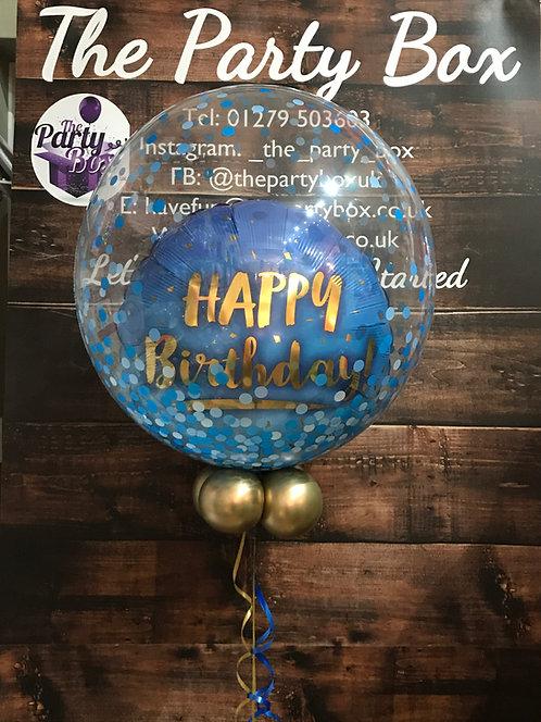 Blue Gold Balloon in a Balloon