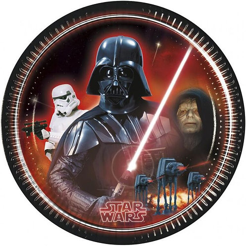 Star Wars Party Paper Plates 23cm Pk8