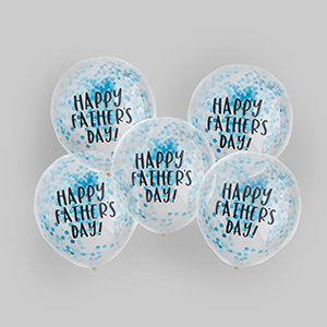 Confetti Happy Fathers Day Balloons