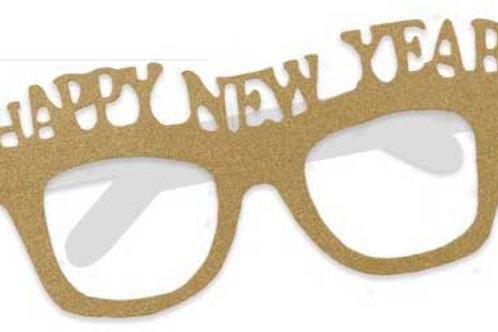 Fun Gold New Year Glasses