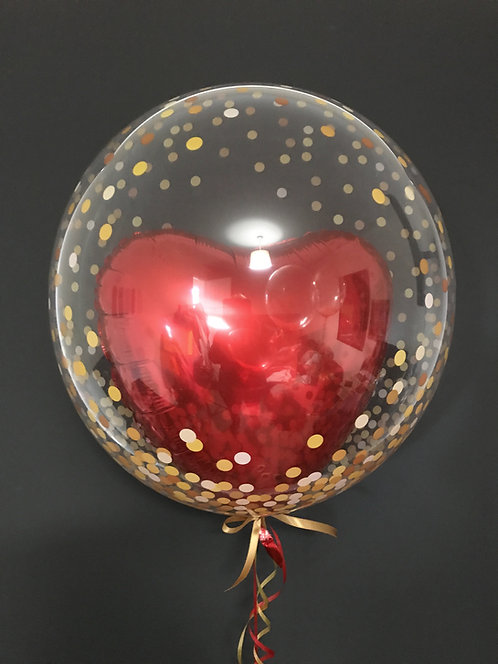 Red Heart Bubble