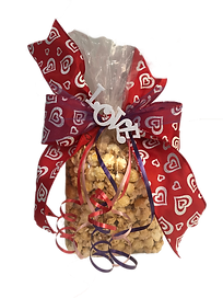 Kettlepopstars Holiday bags. sweet and salty. The stars of kettle corn. Valentine's Day gift bag.