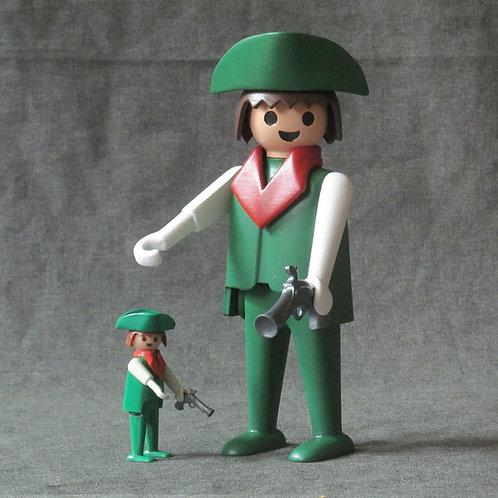 Pirata verde - 20 cm