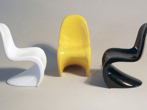 Miniatura de móveis - cadeira Panton