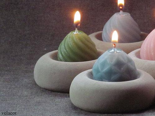 Donuts em concreto com velas ! 05 unidades