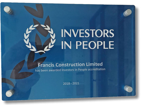 Accreditation Award for Investors In People