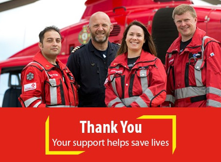 Proud to be supporting Thames Valley Air Ambulance